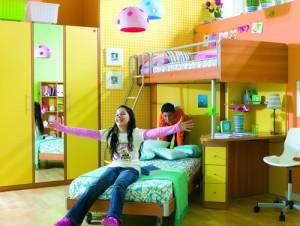Интерьер для ребяческой комнаты для двоих
